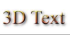 3D Text Logo Creator | Free Online Design Tool