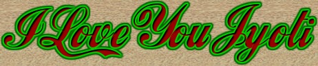 I Love You Jyoti logo. Free logo maker.