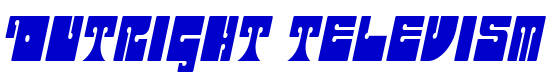 Outright Televism font