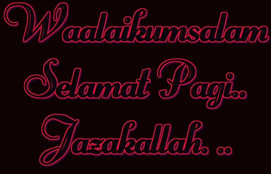 Waalaikumsalam Selamat Pagi Jazakallah Logo Free Logo Maker